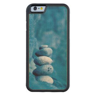 Capa De Madeira De Bordo Bumper Para iPhone 6 Seixos empilhados