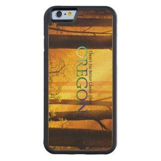 Capa De Madeira De Bordo Bumper Para iPhone 6 T Oregon