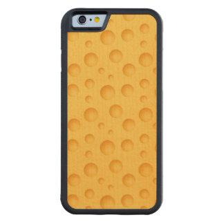 Capa De Madeira De Bordo Bumper Para iPhone 6 Teste padrão amarelo do queijo