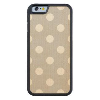 Capa De Madeira De Bordo Bumper Para iPhone 6 Teste padrão de bolinhas cinzento
