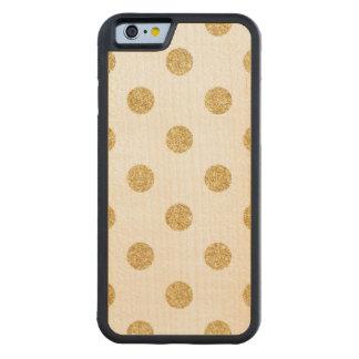 Capa De Madeira De Bordo Bumper Para iPhone 6 Teste padrão de bolinhas elegante do brilho do