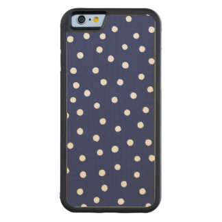 Capa De Madeira De Bordo Bumper Para iPhone 6 Teste padrão de pontos dos confetes dos azuis