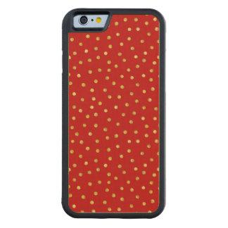 Capa De Madeira De Bordo Bumper Para iPhone 6 Teste padrão de pontos elegante dos confetes da