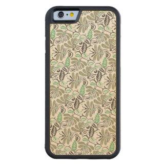 Capa De Madeira De Bordo Bumper Para iPhone 6 Teste padrão verde de Walang do Batik autêntico
