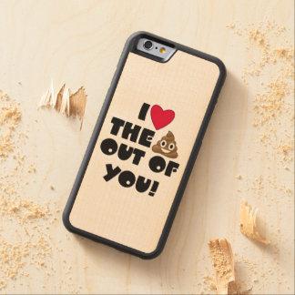 Capa De Madeira De Bordo Bumper Para iPhone 6 Tombadilho Emoji do amor