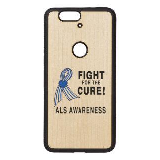Capa De Madeira Para Nexus 6P ALS: Luta para a cura