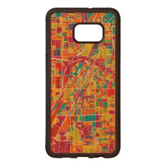 Capa De Madeira Para Samsung Galaxy S76 Edge Mapa de Las Vegas colorido, Nevada