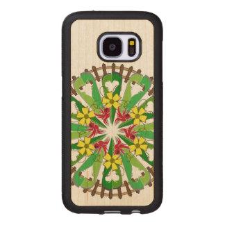 Capa De Madeira Para Samsung Galaxy S7 A ilustração do jardim