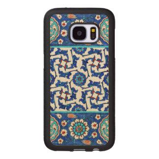Capa De Madeira Para Samsung Galaxy S7 azulejo do iznik