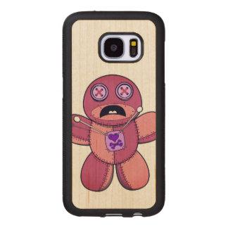 Capa De Madeira Para Samsung Galaxy S7 Boneca do Voodoo