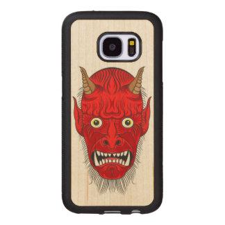 Capa De Madeira Para Samsung Galaxy S7 Cabeça artística do demónio