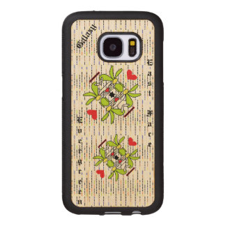 Capa De Madeira Para Samsung Galaxy S7 Caixa da madeira da galáxia S7 de Samsung