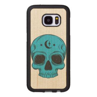 Capa De Madeira Para Samsung Galaxy S7 Crânio artístico