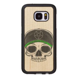 Capa De Madeira Para Samsung Galaxy S7 Crânio da rocha do skate