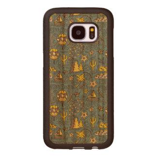 Capa De Madeira Para Samsung Galaxy S7 Divertimento do viagem