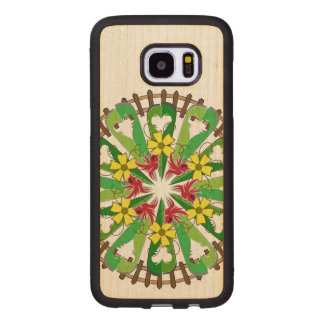 Capa De Madeira Para Samsung Galaxy S7 Edge A ilustração do jardim