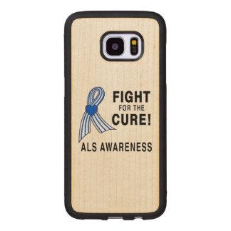 Capa De Madeira Para Samsung Galaxy S7 Edge ALS: Luta para a cura