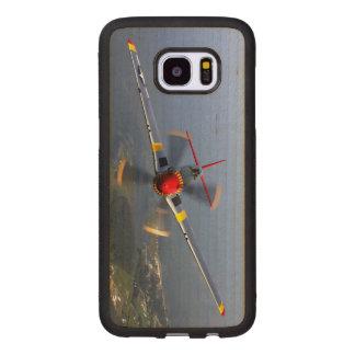 Capa De Madeira Para Samsung Galaxy S7 Edge Aviões de lutador do mustang P-51