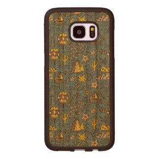 Capa De Madeira Para Samsung Galaxy S7 Edge Divertimento do viagem
