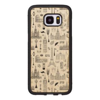 Capa De Madeira Para Samsung Galaxy S7 Edge Férias no teste padrão de Europa