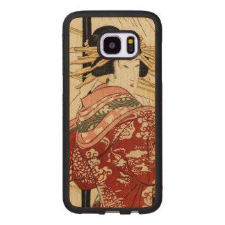 Capa De Madeira Para Samsung Galaxy S7 Edge Hikeyotsu nenhum yoru nenhum ame (impressão do