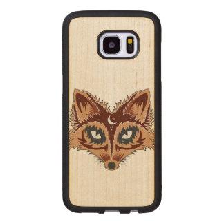 Capa De Madeira Para Samsung Galaxy S7 Edge Ilustração colorida do Fox