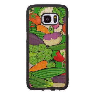 Capa De Madeira Para Samsung Galaxy S7 Edge Legumes misturados