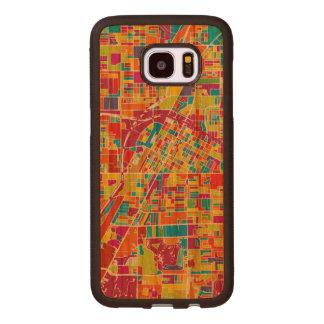 Capa De Madeira Para Samsung Galaxy S7 Edge Mapa de Las Vegas colorido, Nevada