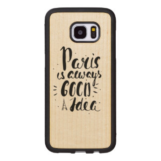 Capa De Madeira Para Samsung Galaxy S7 Edge Paris é sempre uma boa ideia