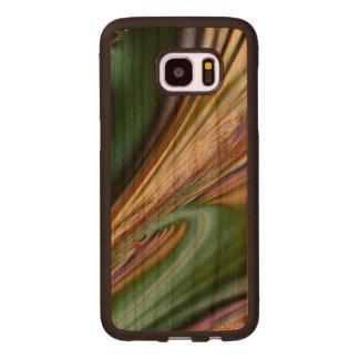 Capa De Madeira Para Samsung Galaxy S7 Edge Seashell abstrato