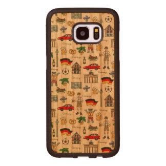 Capa De Madeira Para Samsung Galaxy S7 Edge Teste padrão dos símbolos de Alemanha |