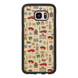 Capa De Madeira Para Samsung Galaxy S7 Edge Teste padrão dos símbolos de Alemanha  