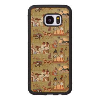 Capa De Madeira Para Samsung Galaxy S7 Edge Teste padrão dos símbolos de Egipto |