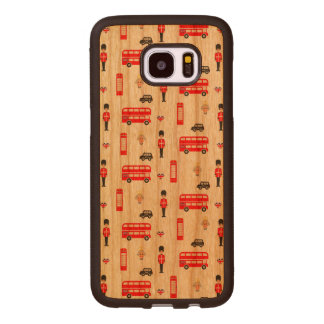Capa De Madeira Para Samsung Galaxy S7 Edge Teste padrão dos símbolos de Inglaterra