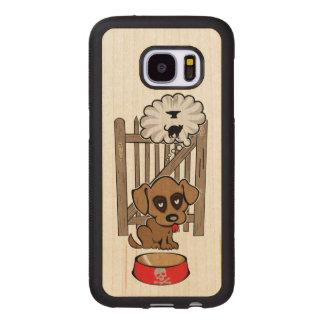 Capa De Madeira Para Samsung Galaxy S7 Filhote de cachorro Daydreaming