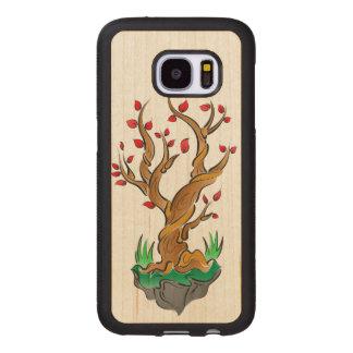 Capa De Madeira Para Samsung Galaxy S7 Ilustração colorida da árvore