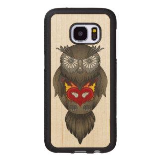 Capa De Madeira Para Samsung Galaxy S7 Ilustração da coruja