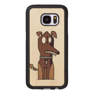 Capa De Madeira Para Samsung Galaxy S7 Ilustração de assento do filhote de cachorro