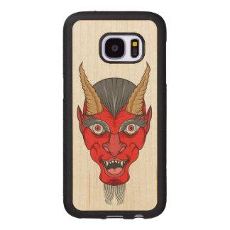 Capa De Madeira Para Samsung Galaxy S7 Ilustração do diabo vermelho