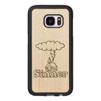 Capa De Madeira Para Samsung Galaxy S7 Ilustração do pecador