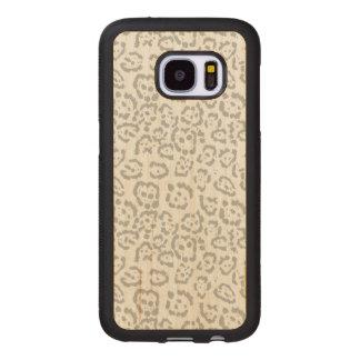 Capa De Madeira Para Samsung Galaxy S7 Impressão animal cinzento do gato de leopardo da