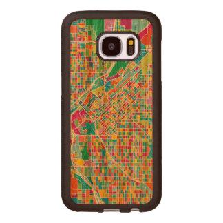 Capa De Madeira Para Samsung Galaxy S7 Mapa colorido de Denver