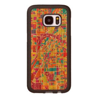 Capa De Madeira Para Samsung Galaxy S7 Mapa de Las Vegas colorido, Nevada