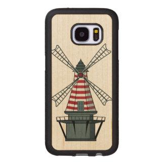 Capa De Madeira Para Samsung Galaxy S7 Moinho de vento de Holland
