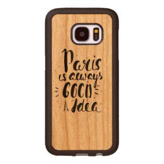 Capa De Madeira Para Samsung Galaxy S7 Paris é sempre uma boa ideia