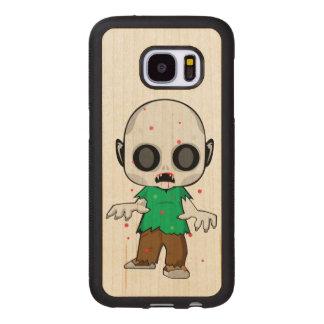 Capa De Madeira Para Samsung Galaxy S7 Pirralho do zombi