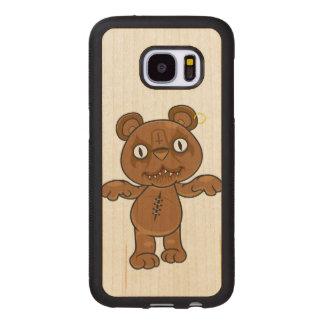 Capa De Madeira Para Samsung Galaxy S7 Rei Ursinho