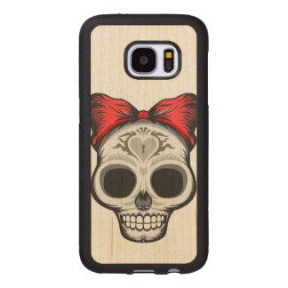 Capa De Madeira Para Samsung Galaxy S7 Senhorita Thang Açúcar Crânio