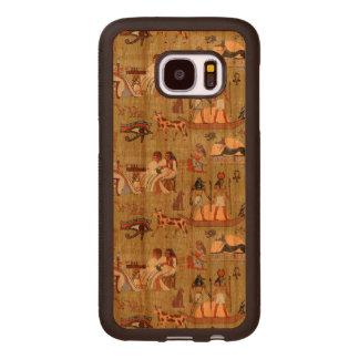 Capa De Madeira Para Samsung Galaxy S7 Teste padrão dos símbolos de Egipto |