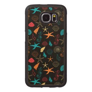 Capa De Madeira Para Telefone Criaturas coloridas do mar
